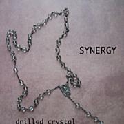 Pools Of Light Rock Crystal Rosary With Sacred Heart Of Jesus