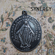Sterling Larger Oval Repousse Miraculous Medal