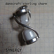 Sterling Mechanical Hourglass Charm by Danecraft
