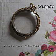 SOLD Victorian Double Sided Crystal Locket