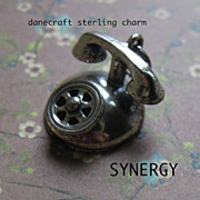 Danecraft Sterling Mechanical Rotary Dial Telephone Charm