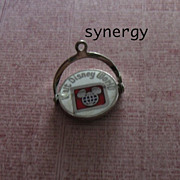 Sterling Enamel Walt Disney World Spinner Charm