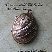 Victorian Puffed Gold Fill Locket With Ornate Design