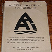 SALE 1919 Advertising Art Book LOOK