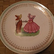 "SALE Sunbonnet Babies Plate ""T 4 2"" Tea For Two *LOOK*"