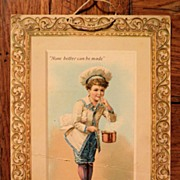 SALE 19th C. Franco American Chef Boy Chromo Advertising Menu