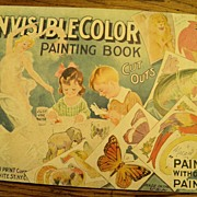 SALE 1920's Child's INVISIBLE Color Paintless Paint Book GREAT