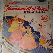 SALE 1953 Pasadena Roses Parade Program w/Rose Bowl & GM Nixon