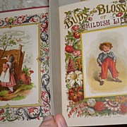 SOLD 1870 Buds & Flowers of Childish Life 30 Color Plates Wonderful