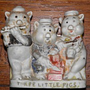 SALE Walt Disney Three Little Pigs Toothbrush Holder
