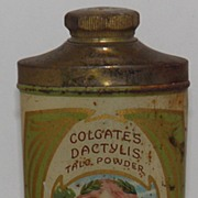 SALE Colgate's Dactylis Talc Tin Wonderful Art Nouveau Graphic *Great*