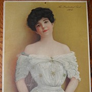 SALE 1904 Victorian Lady Portrait Prudential Advertising Premium 10 x 12 Calendar