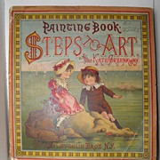 SALE 1882 McLoughlin Painting Book STEPS TO ART Kate Greenaway