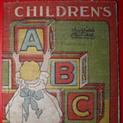 SALE 1904 Saalfield Muslin Children's ABC Colorful Book