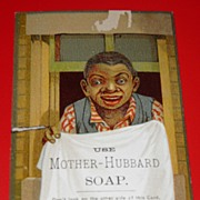 SALE Mother Hubbard Soap Black Americana Tradecard
