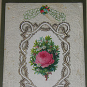 SALE 1840's Valentine Triple Lace Layers w/ Applied Decorations