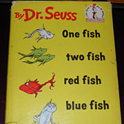 SALE 1960 Dr. Seuss One Fish Two Fish Red Fish Blue Fish 1st Edition DJ