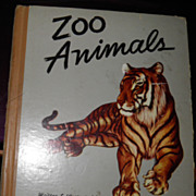 SALE Vintage Zoo Animals Written / Illustrated Gladys Emerson Cook 1943 1st