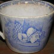 SALE Old Mother Hubbard Staffordshire Children's Mug