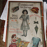 SALE Antique 1910 Dennison's Jointed Paper Dolls Complete In Box