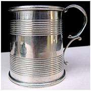 Antique Georgian Sterling Silver Christening Mug