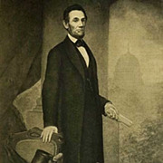 SOLD 1907 Antique President Portrait 'Abraham Lincoln' Fine Art - Gravure Print, White House,