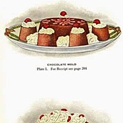 SOLD Scarce 1921 �Lowney�s Cookbook� Lithograph Illustrations - Advertising / Chocolate