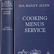 SOLD Collector�s 1932 Modern Cook Book 'Ida Bailey Allen' � Illustrated / Entertaining / ...