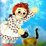 1970's ' Raggedy Andy' The I Can Do  Do It, You Can It, SCARCE - Golden Book, Raggedy Ann, Vin