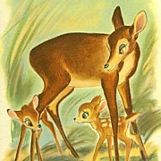 SOLD 1941 1st Ed Walt Disney's Bambi w/ Lithograph Illustrations SCARCE / Felix Salten / ...