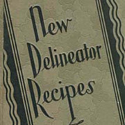 SOLD 1929 1st Ed 'New Delineator Recipes' ART DECO Cover - Illustrated / Entertaining / RARE /