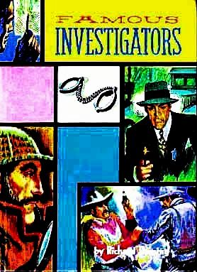 SCARCE 1963 1st Ed 'Famous Investigators' w/ Lithograph Art - True Crime Stories / Anthology / Detective / YA