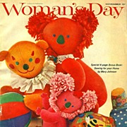 SOLD Christmas Gifts November 1963 Woman's Day Magazine - Holiday / Little Women Dolls / ...