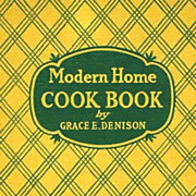 SOLD SCARCE 1938 'Modern Home Cook Book' Illustrations - Cookery / Recipes / Classic