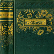 SALE 1880's `William Wordsworth' Poetry, Memoir, Collector's  Victorian Decorated Gilt Cover,