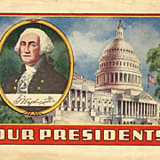 1930's 'Our President' Advertising Premium 'Alka Seltzer' & Dr. Miles - Ephemera / Illustrated