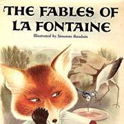 SOLD RARE 1957 1st Ed 'Fables of La Fontaine' DJ 'Lithograph Art - Original French Fairy ...