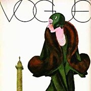 SOLD 1st Ed 'Art of Vogue Covers' 1909-1940 w/ DJ Fashion RARE - Great Britain 1st Printing, A