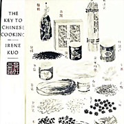 SALE Irene Kuo 'The Key to Chinese Cooking' DJ, 1977 Out-Of-Print - RARE 1st Ed, 1st Print, Il