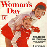 SOLD February 1960 Woman's Day Magazine 'Advertising'' - Fashion / Home Decor / Recipes / Vint