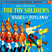1961 1st Ed Walt Disney's 'The Toy Soldiers' Little Golden Book - Babes In Toyland ...