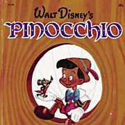 SOLD 1948 1st Ed Walt Disney's 'Pinocchio' Little Golden Book #D100 - RARE &quot;A&quot;, 39 C