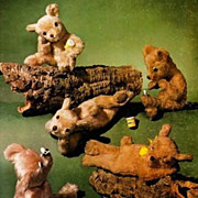 1977 'Teddy Bears and How to Make Them' Illustrated Crafts - Stuffed Animals / Sewing Patterns