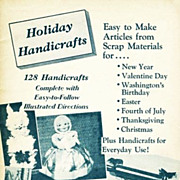 SCARCE 1966 1st Ed 'Holiday Handicrafts' Crafts - Decorations, Christmas, Scrap, Dolls, Stuffe