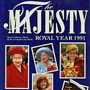 Majesty Magazine Royal Year 1991 Royal Family 'Princess Diana' - Dave Chancellor Photographs,