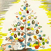 RARE 1950 1st Ed `The Egg Tree' DJ, Easter Holiday - Katherine Milhous Folk Art, Caldecott Med