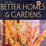 July, 1937 Better Homes & Gardens Magazine, Advertising - Architect Robert Carr, Modern Homes,