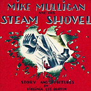 1967 'Mike Mulligan And His Steam Shovel' Scarce DJ - Virginia Lee Burton, Vintage, Picture Bo