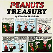 SALE 1968 'Peanuts Treasury' DJ, Stated 1st Ed, Cartoons - Charlie Brown, Charles Schultz, Vin