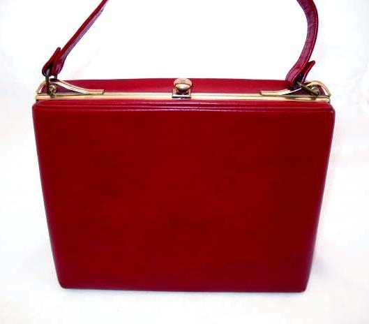 STYLISH Vintage Red Leather Purse &ndash; MAD MEN Fashion